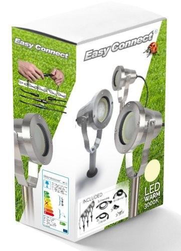 Easy-Connect Set 3 Strahler Alu gebürstet