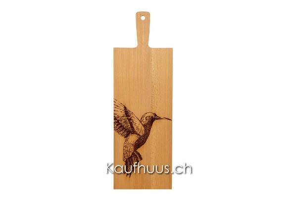 "Holzbrett ""Kolibri Zoom"" Buche, lang"