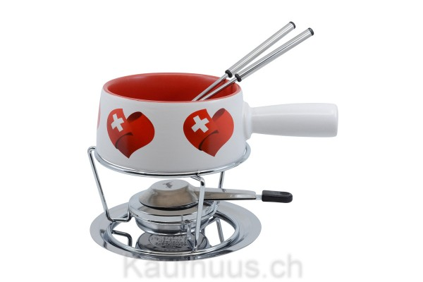 "Käsefondue-Set Small ""Swiss Love"", 5-teilig"