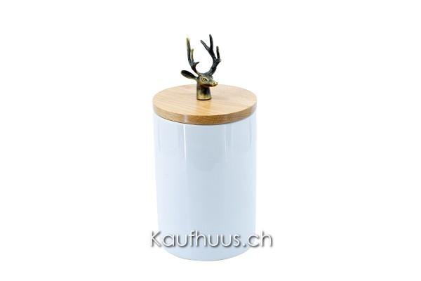 "Vorratsdose ""Hirsch"", Keramik, 23.5 cm"