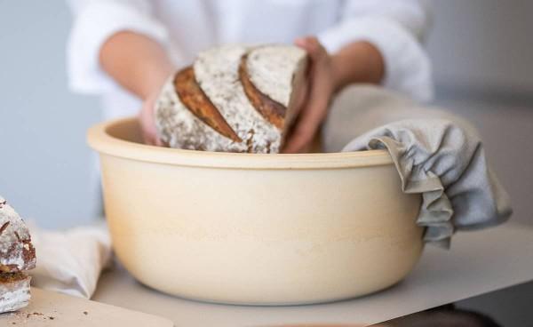 Brottopf mit Leineabdeckung