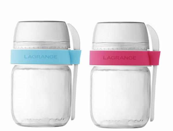 Joghurtgläser mit Müesli Behälter