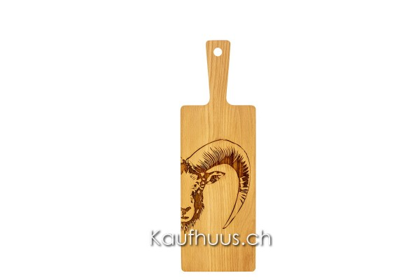 """Holzbrett """"Mufflon Zoom"""", Buche, klein"""