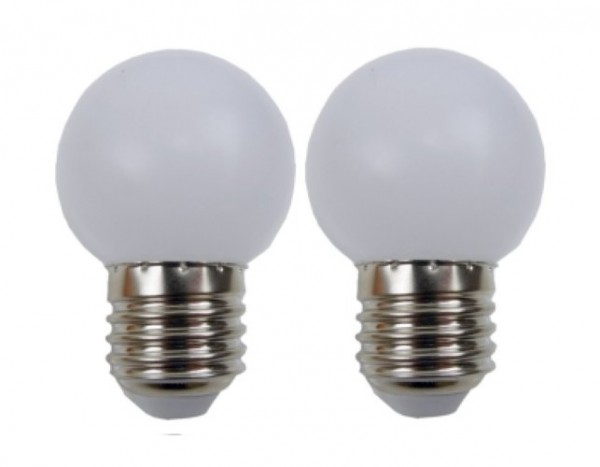 Easy-Connect 2 LED Leuchtmittel E27 Weiss
