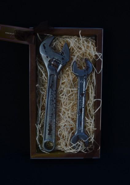 Schokolade Rollgabelschlüssel und Maulschlüssel