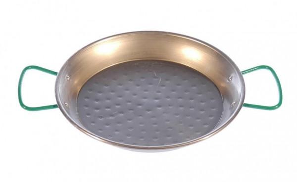 Stahlpfanne mit Pfannenhaltern für das Zwergenfeuer