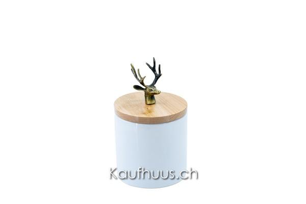 "Vorratsdose ""Hirsch"", Keramik, 18.7 cm"