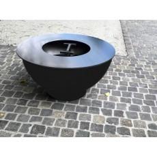 Feuerkugel/Grillring Schwarz Ø 104 cm