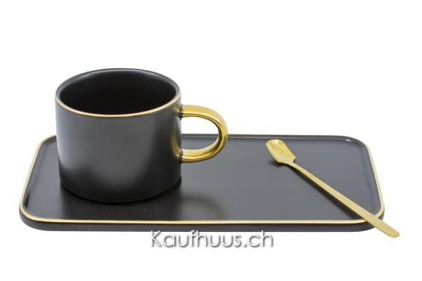 "Kaffeetasse mit Unterteller ""Elegance"", 3-teilig"
