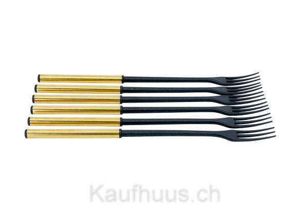 """Käsefondue-Gabeln """"Protect Gold"""" 6 Stück"""