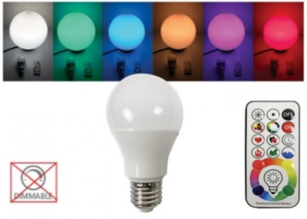 Easy-Connect RGB LED Leuchtmittel E27 EEK: A+