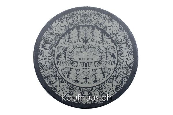 "Schieferplatte ""Bergholzet"", Ø 30 cm"