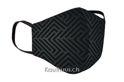 "Community Maske ""Comfort Mask"", Labyrinth, schwarz"