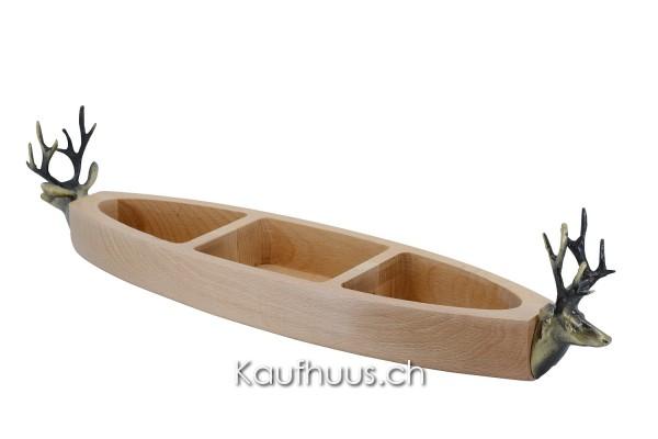 """Holz-Snackschale """"Hirsch"""""""