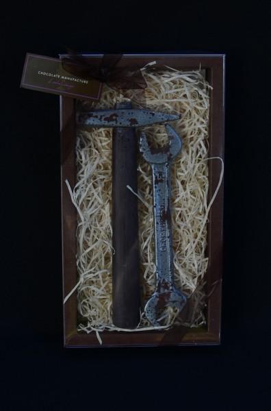 Schokolade Hammer und Maulschlüssel