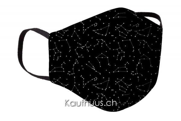 "Community Maske ""Comfort Mask"", Stars, schwarz"