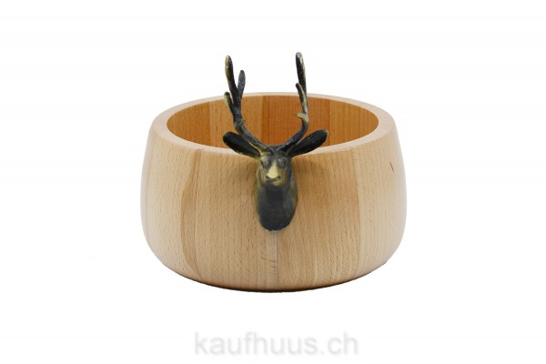 """Holzschale """"Hirsch"""" Ø 19 cm"""