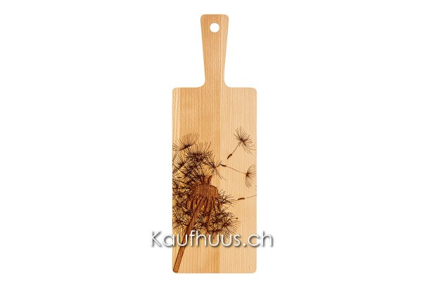 "Holzbrett ""Pusteblume Zoom"" Buche, klein"