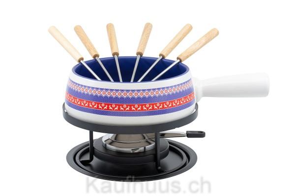 "Käsefondue-Set Medium ""Hirsch Wollband"", 9-teilig"