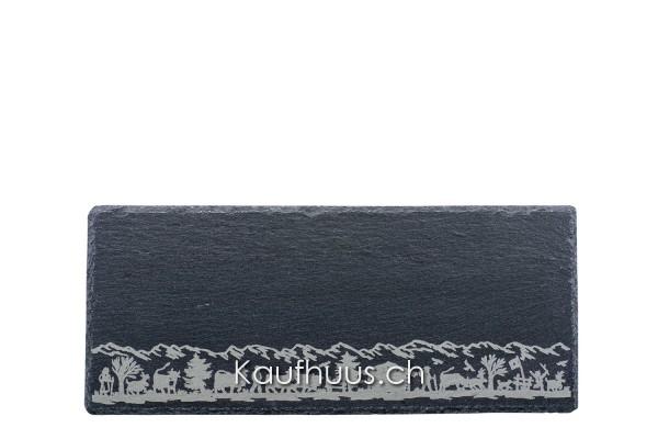 "Schieferplatte ""Alpaufzug schmal"", 33 x 14 cm"