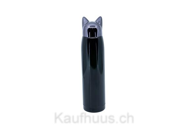 """Isolier-Trinkflasche """"Super Cat"""", 320 ml, schwarz"""